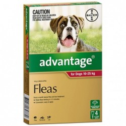 Advantage Dogs 10-25kg Red 4s