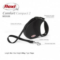 Flexi Comfort Compact 2M 5m Black