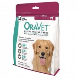 Oravet Dogs over 23kg Pink 721g